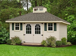 Standard Hip Roof Shed in Virginia