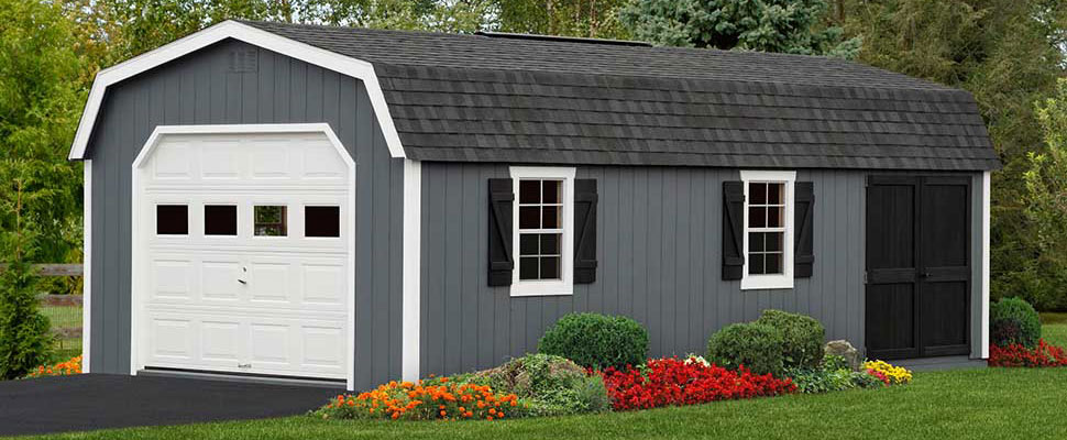 Amish Dutch Barn Garage Storage