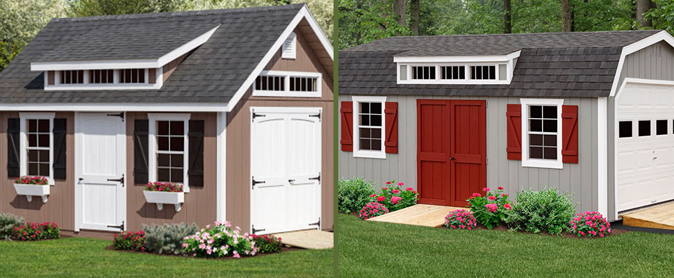 Victorian a-frame and colonial dutch garage