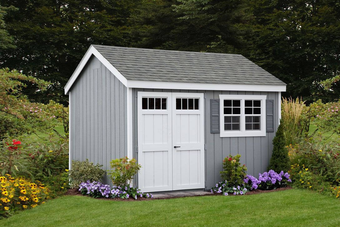 Colonial A-frame shed
