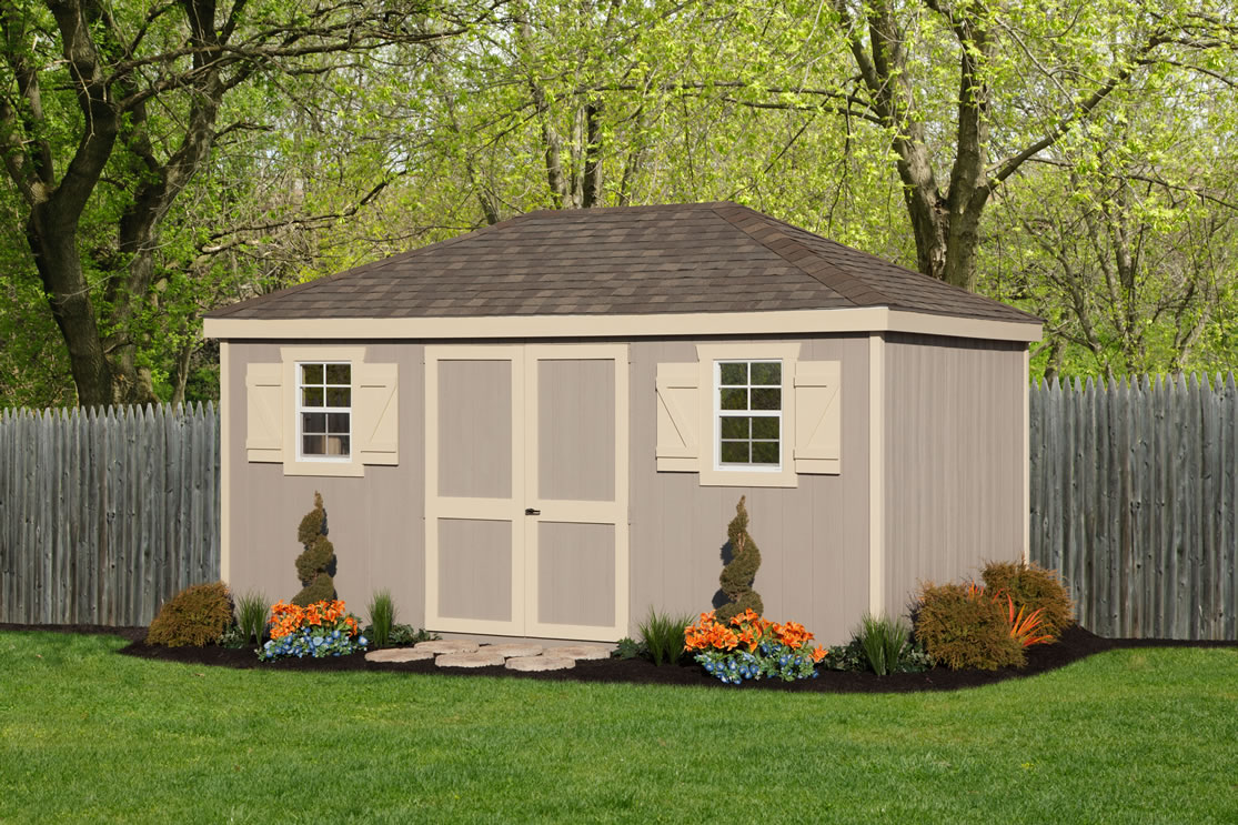 Colonial Hip Roof shed