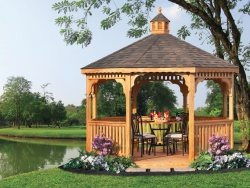 pressure treated wood gazebo